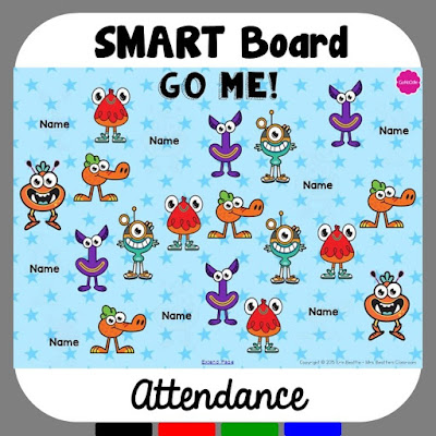 Image of GoNoodle SMART Board attendance