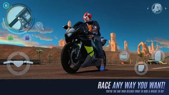 Animated Clown in a Bike