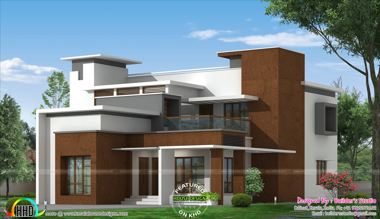 Box type modern home architecture plan kerala home for Modern homes