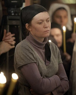 matushka - Julia Sysoeva at the funeral of Fr. Daniel. Photo patriarchia.ru
