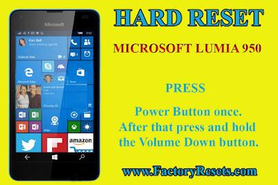 hard Reset Microsoft Lumia 950