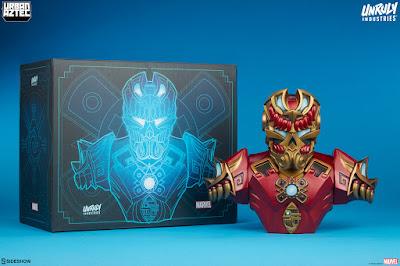 Iron Man Urban Aztec Vinyl Bust by Jesse Hernandez x Unruly Industries x Marvel Comics