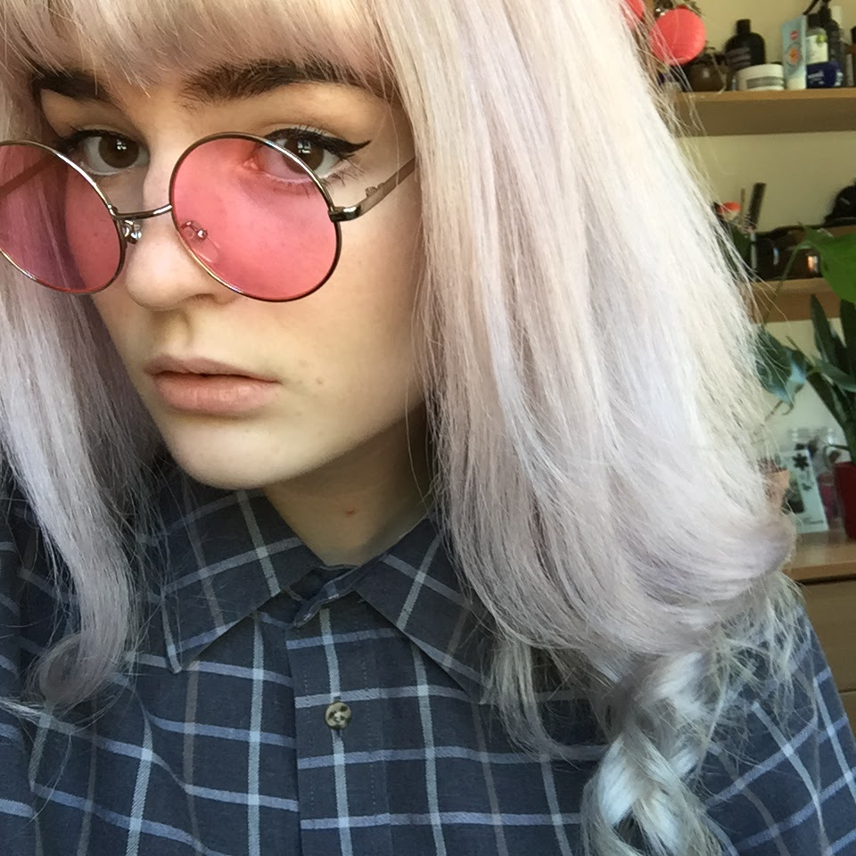 Pink tinted unicorn hair with Bleach London