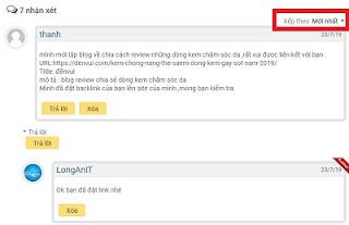 Sắp xếp bình luận mới nhất, cũ nhất cho blogspot dạng facebook