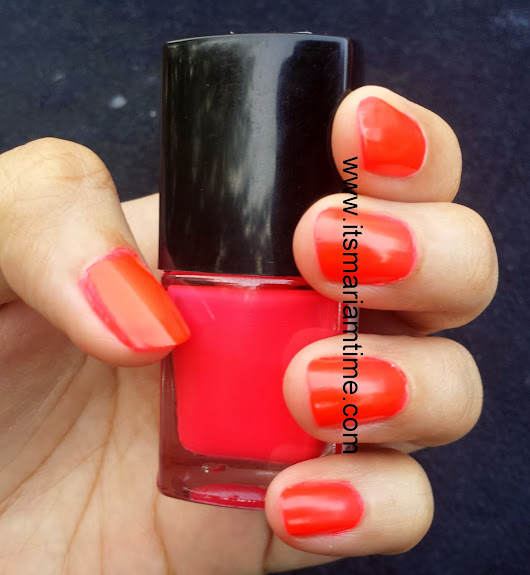 MONDAY MANICURE--FOREVER 21 NAIL COLOR IN MIAMI PINK--NOTD