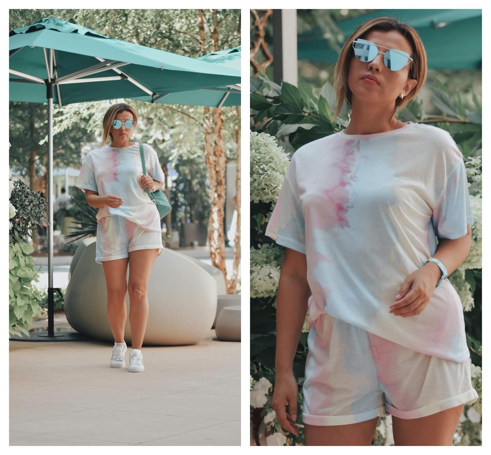 Tie Dye Tee- Shorts Set-mariestilo-sheingals-streetwear-fashionblogger-dcblogger-modaelsalvador-youtuber-
