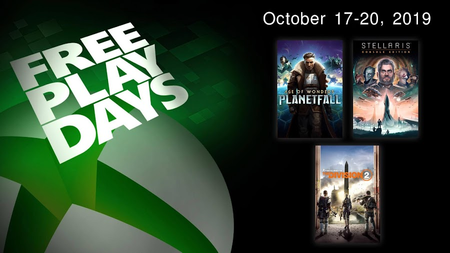 tom clancy's the division 2 age of wonders planetfall stellaris console edition xbox live gold free play days event