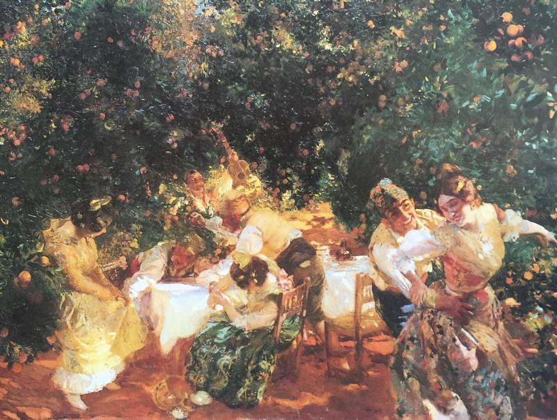 """""""Entre Naranjos"""" Alcira, Valencia. Joaquín Sorolla, 1903 exposición Habana Valencia"""