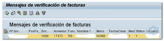SAP Mensaje KONS - Consultoria-SAP
