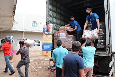 Município de Campo Mourão - PR recebe 6 mil quilos de alimentos do Condor Supermercados