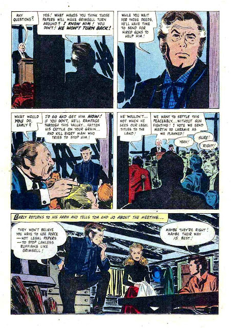 Gun Glory / Four Color Comics #846 dell western comic book page art by Alex Toth