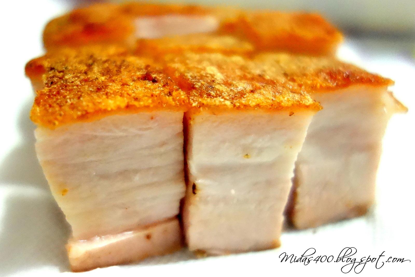 Crackling pork fat rules
