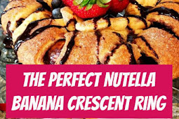 Nutella Banana Crescent Ring #nutella #crescent #brunch #desserts