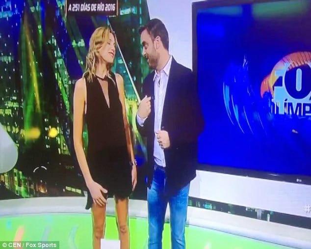 Tv host naked on