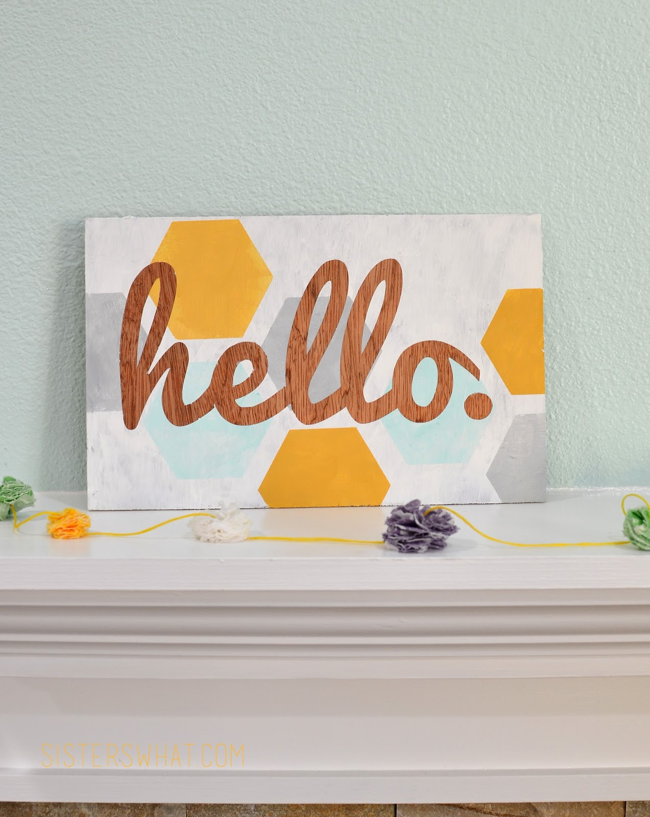 This Printable Hello Hexagon Sign will be the perfect addition to your modern decor with it's geometric shapes and bright colors!