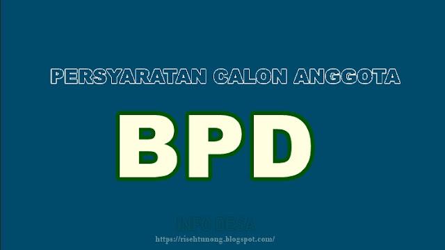 Persyaratan Calon Anggota BPD di Desa