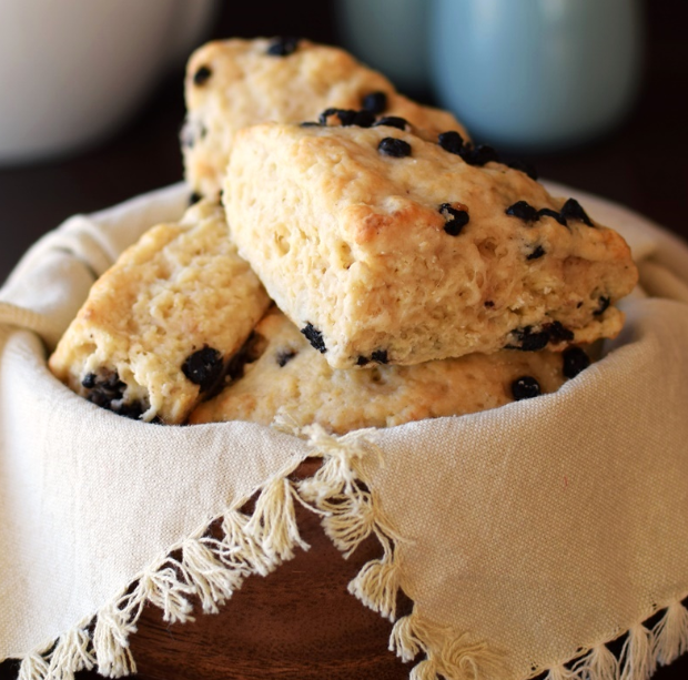 Vegan Wild Blueberry Scones (Panera Copycat!) #dessert #cake