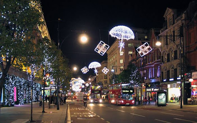 Christmas Decorations on Oxford Street