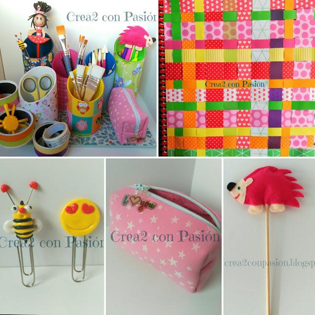 Material-escolar-y-de-escritorio-hecho-con-materiales-reciclados-y-decorado-con-papeles-de-Scrapp-goma-eva-cintas-de-quilling-Crea2conPasión