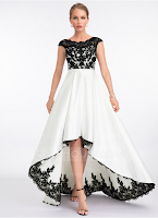 Vestido asimétrico en blanco y negro