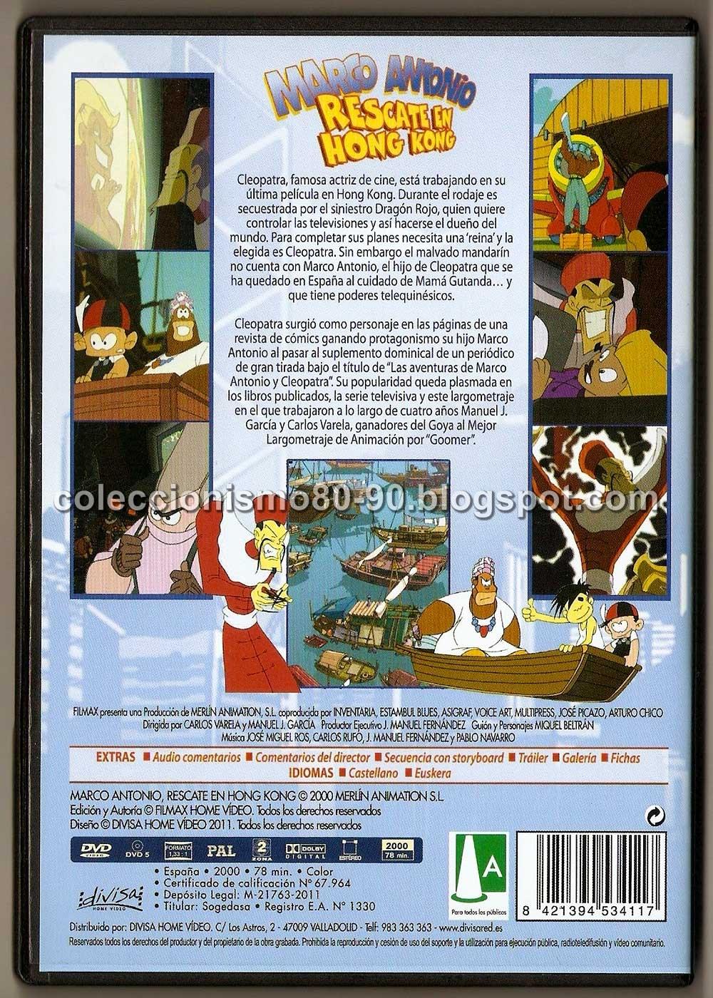 Coleccionismo 80-90: MARCO ANTONIO: RESCATE EN HONG KONG (2000) - DVD