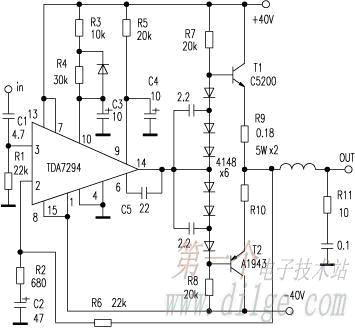 High Power Output Amplifier TDA7294