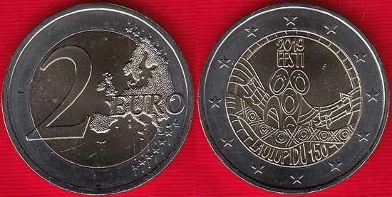 Estonia 2 euro 2019 50th anniversary of the first song festival