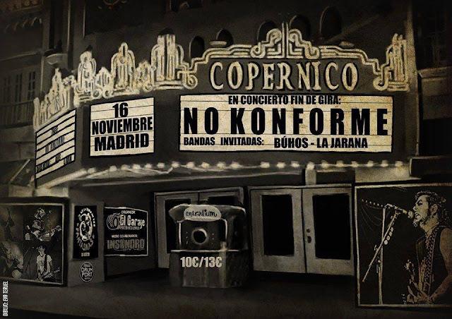 No Konforme, Copérnico, Madrid, Concierto