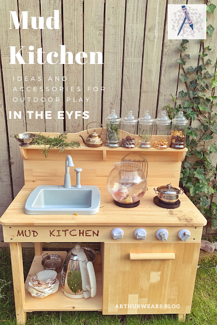 Mud kitchen ideas and accessories for outdoor play in the EYFS