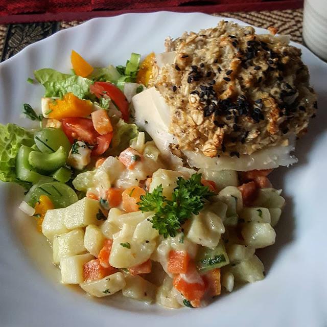 Krämig vegetarisk panna med persilja