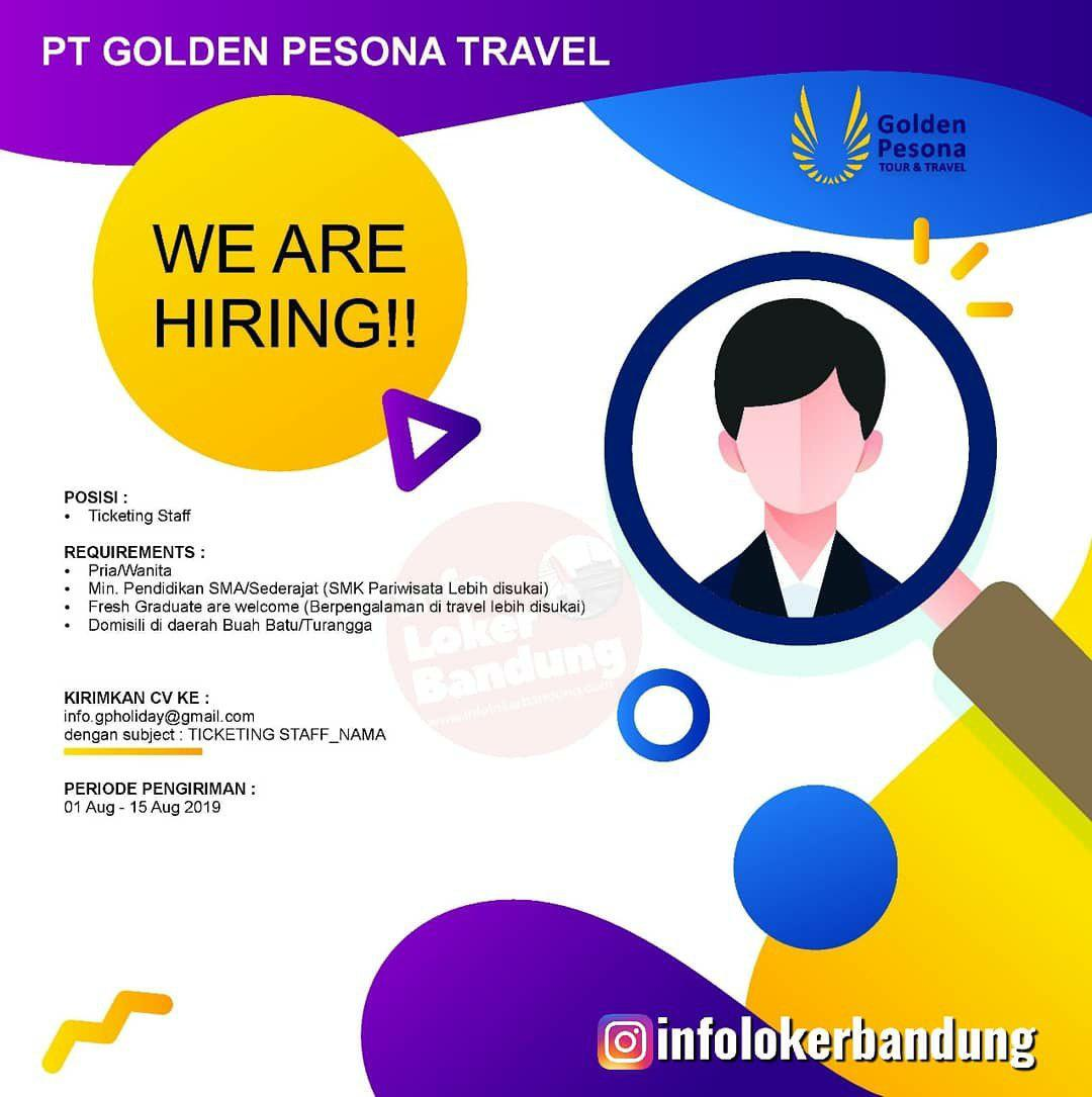 Lowongan Kerja PT. Golden Pesona Travel Bandung Agustus 2019