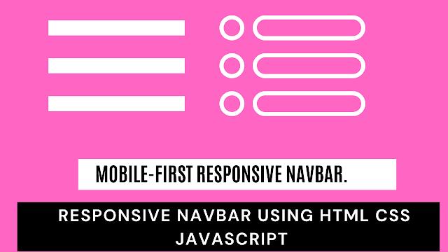 navbar html | responsive navbar using html css javascript | hamburger menu css