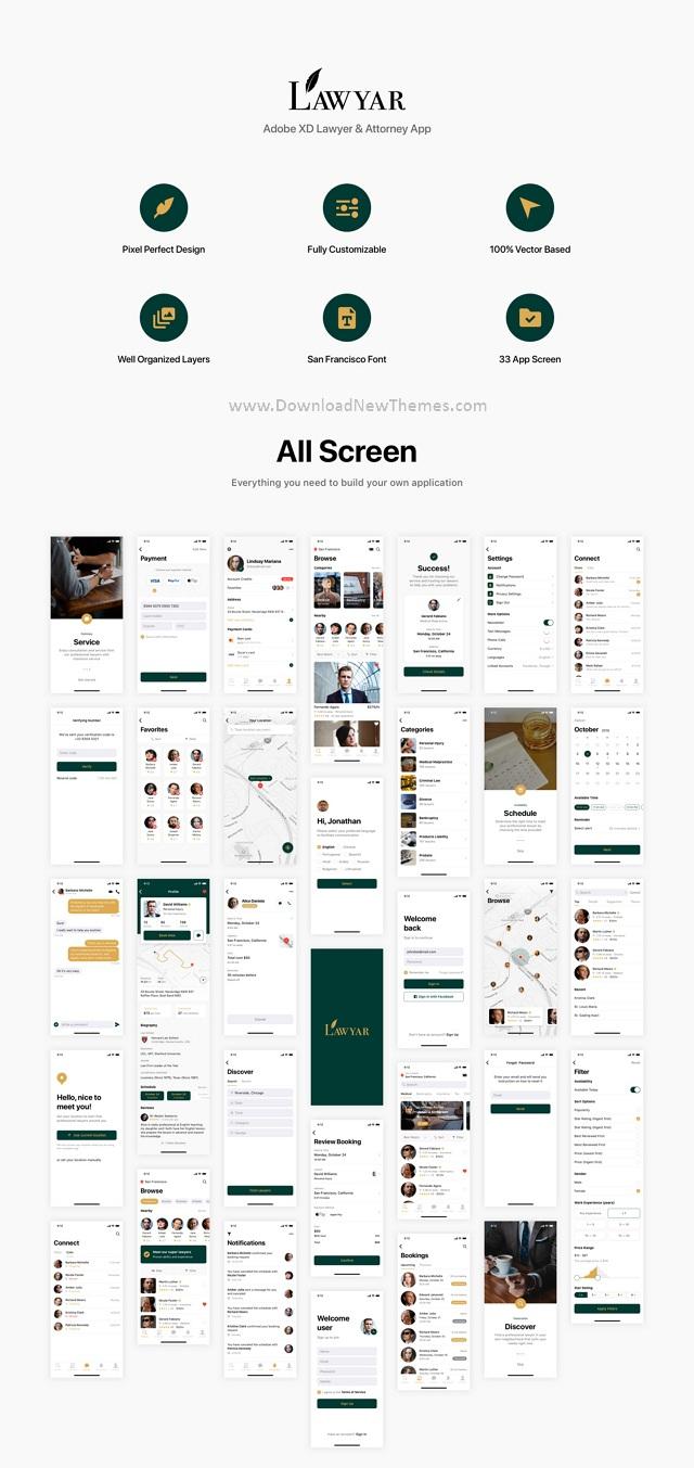 Lawyer & Attorney App Ui Kit