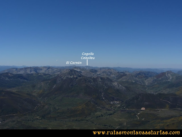 Ruta Tuiza de Arriba-Peña Ubiña: Vista del Cornón y Cogollu Cebolleu