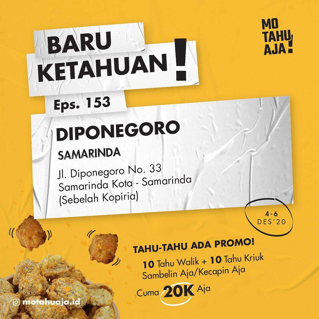 MO TAHU AJA Dipenogoro Samarinda Opening Promo Paket 20 Tahu cuma Rp 20.000