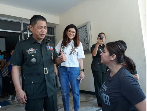 Angel Locsin And The ABS-CBN Management Visited AFP For The Preparation Of 'The General's Daughter'