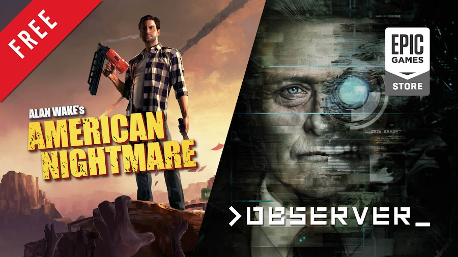 alan wake's american nightmare and observer free pc game epic games store remedy entertainment microsoft studios bloober team aspyr