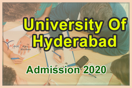 University of Hyderabad Admission 2020