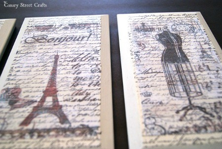 Image or Graphic Transfer with Mod Podge by Canary Street Crafts