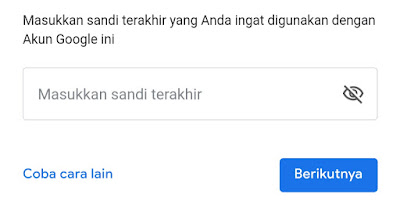 cara mengetahui password akun google yang lupa