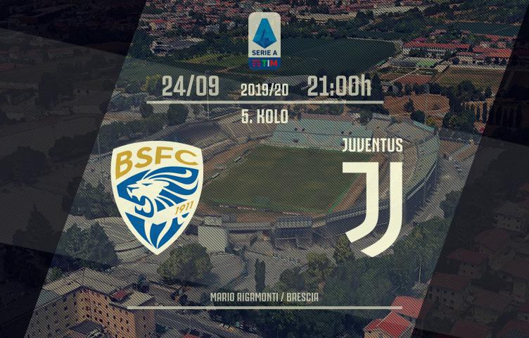 Serie A 2019/20 / 5. kolo / Brescia - Juventus, utorak, 21:00h