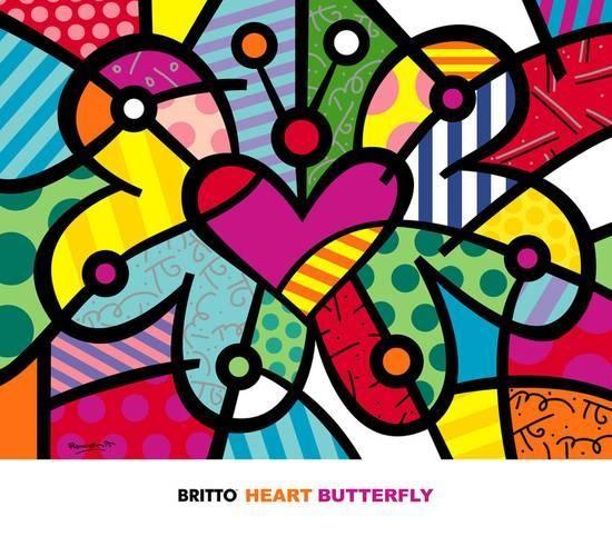 Coloriage Fleur Britto.Amiscol Des Papillons Comme Romero Britto
