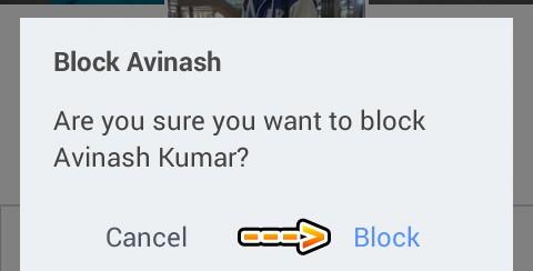 Facebook friend ko block kare