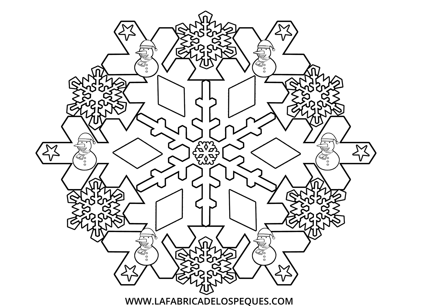 Mandalas infantiles de invierno (imprimibles gratis)   La fábrica