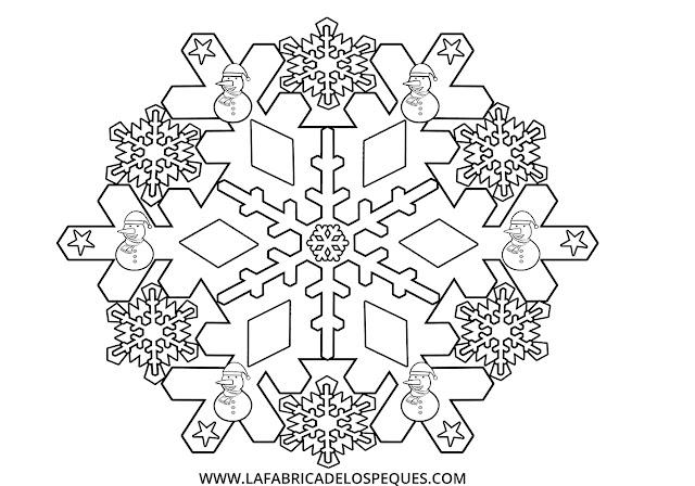 Mandalas infantiles invierno