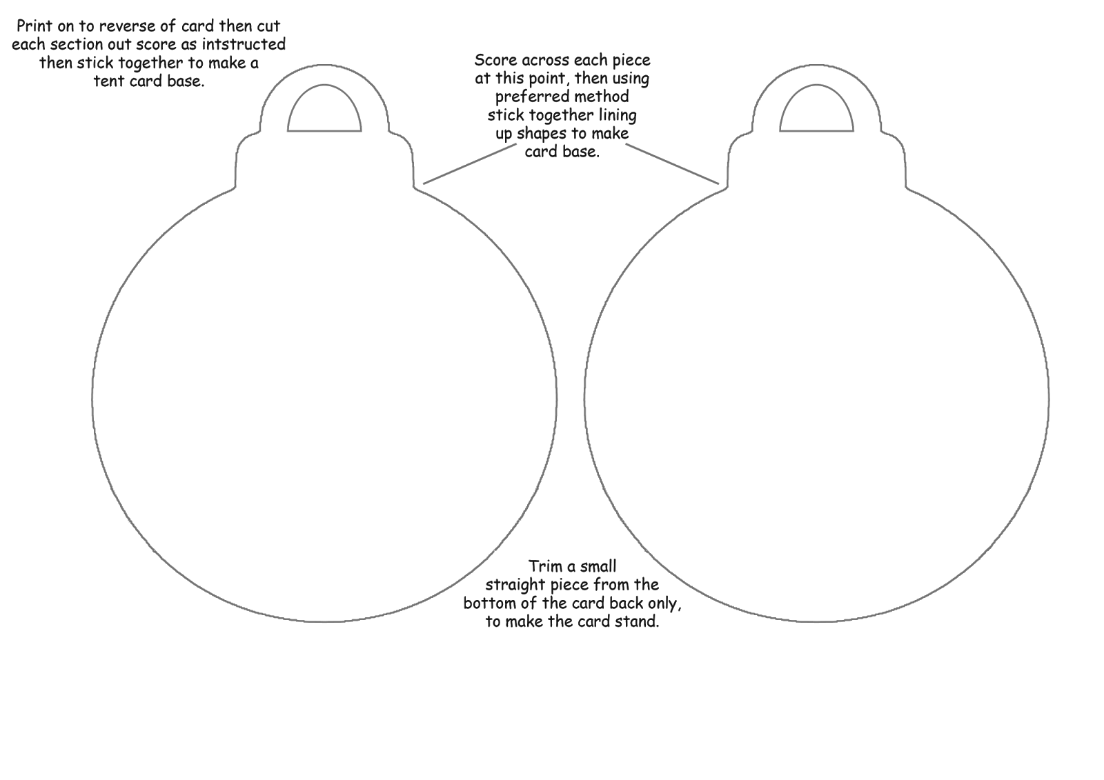 christmas baubles templates to colour - digi re doo dah bauble card with template