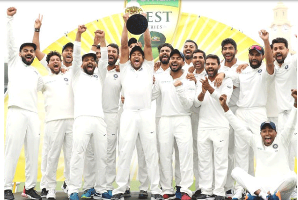 The Indian team became the first Asian team to win the Test series in Australia