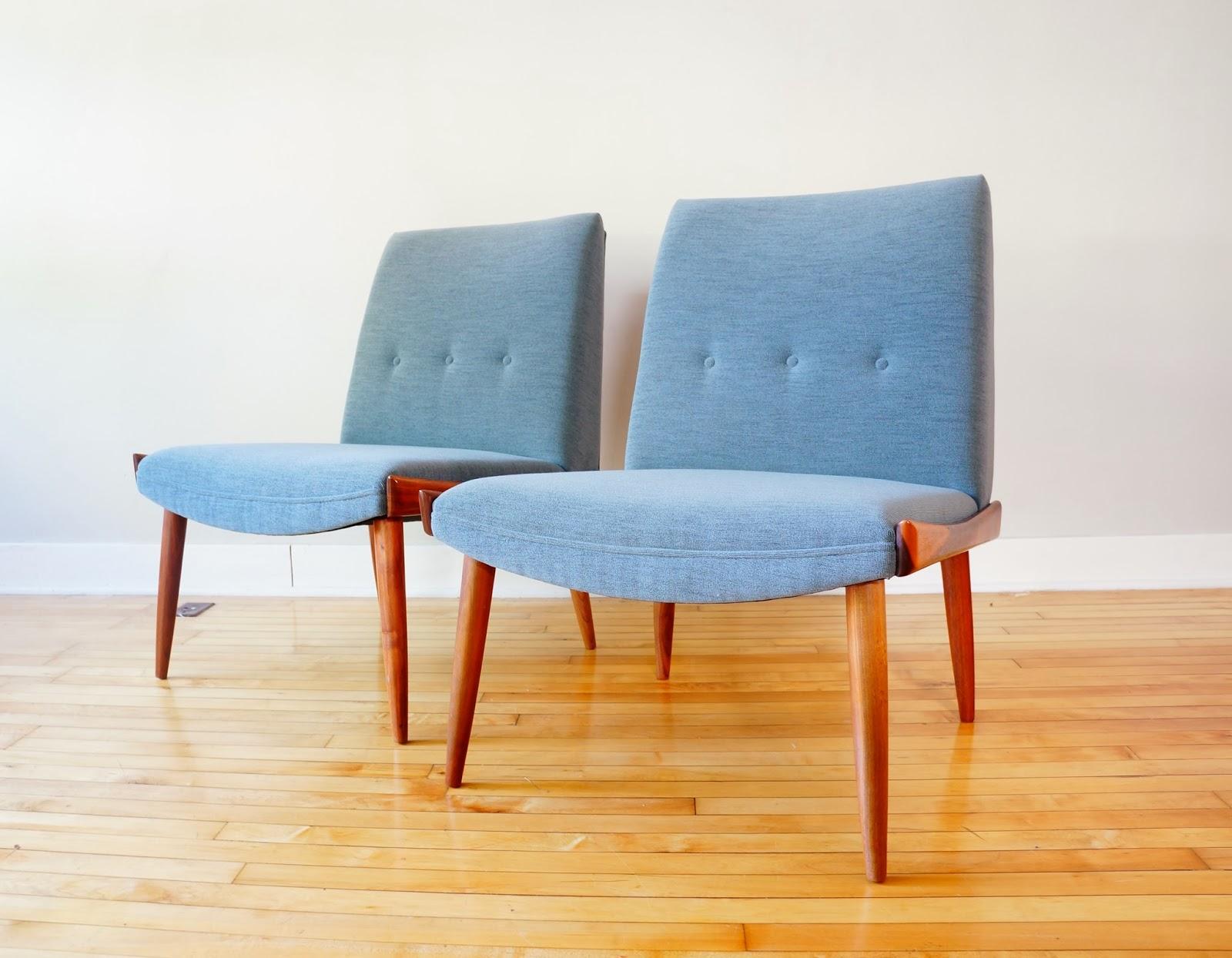 str8mcm: Mid Century Slipper Lounge Chairs by Kroehler