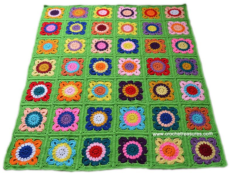 Free Crochet Pattern, Crochet Afghan Pattern, Spring Afghan
