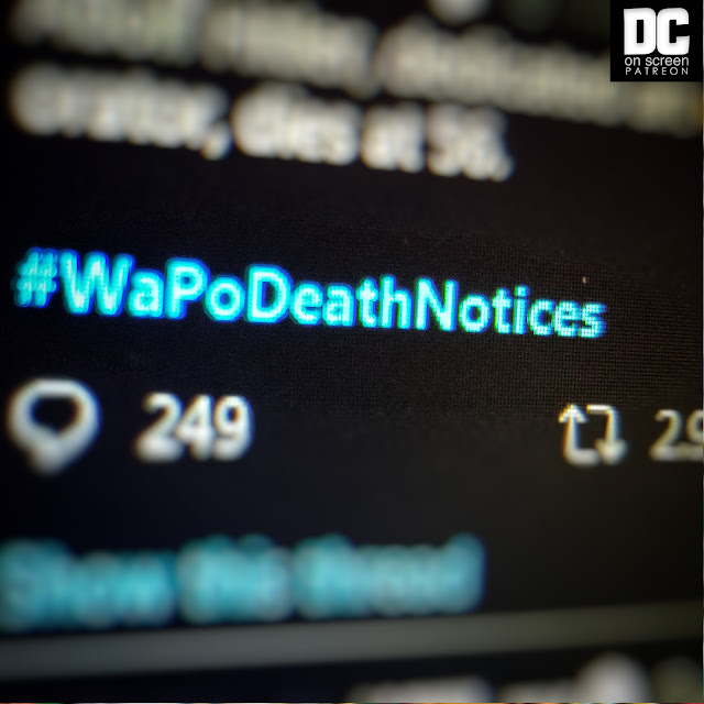 Washington Post Death Notices on Twitter #WaPoDeathNotices